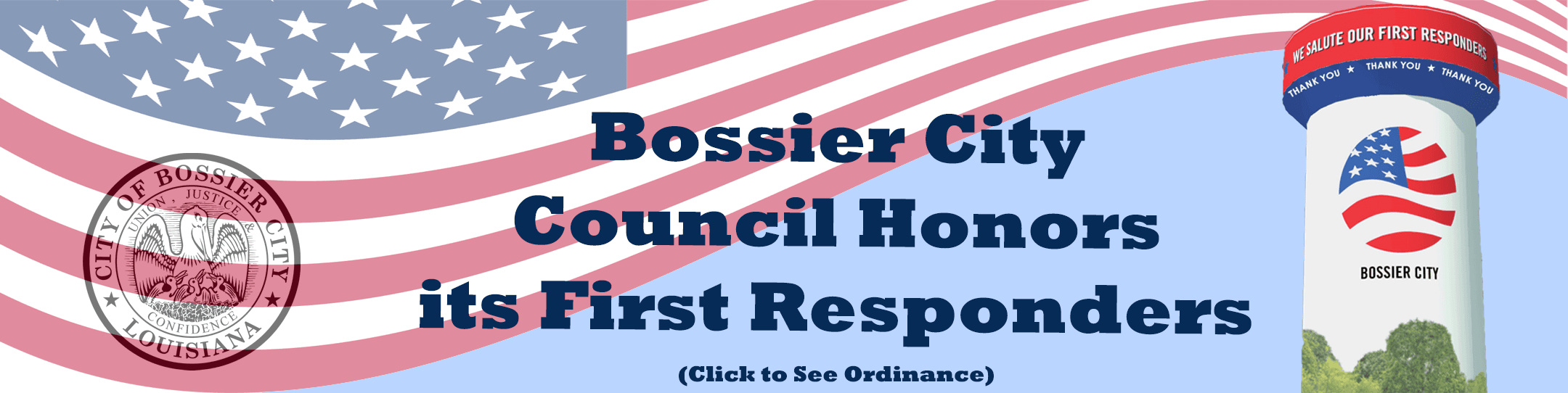 Bossier City Council Honors First Responders