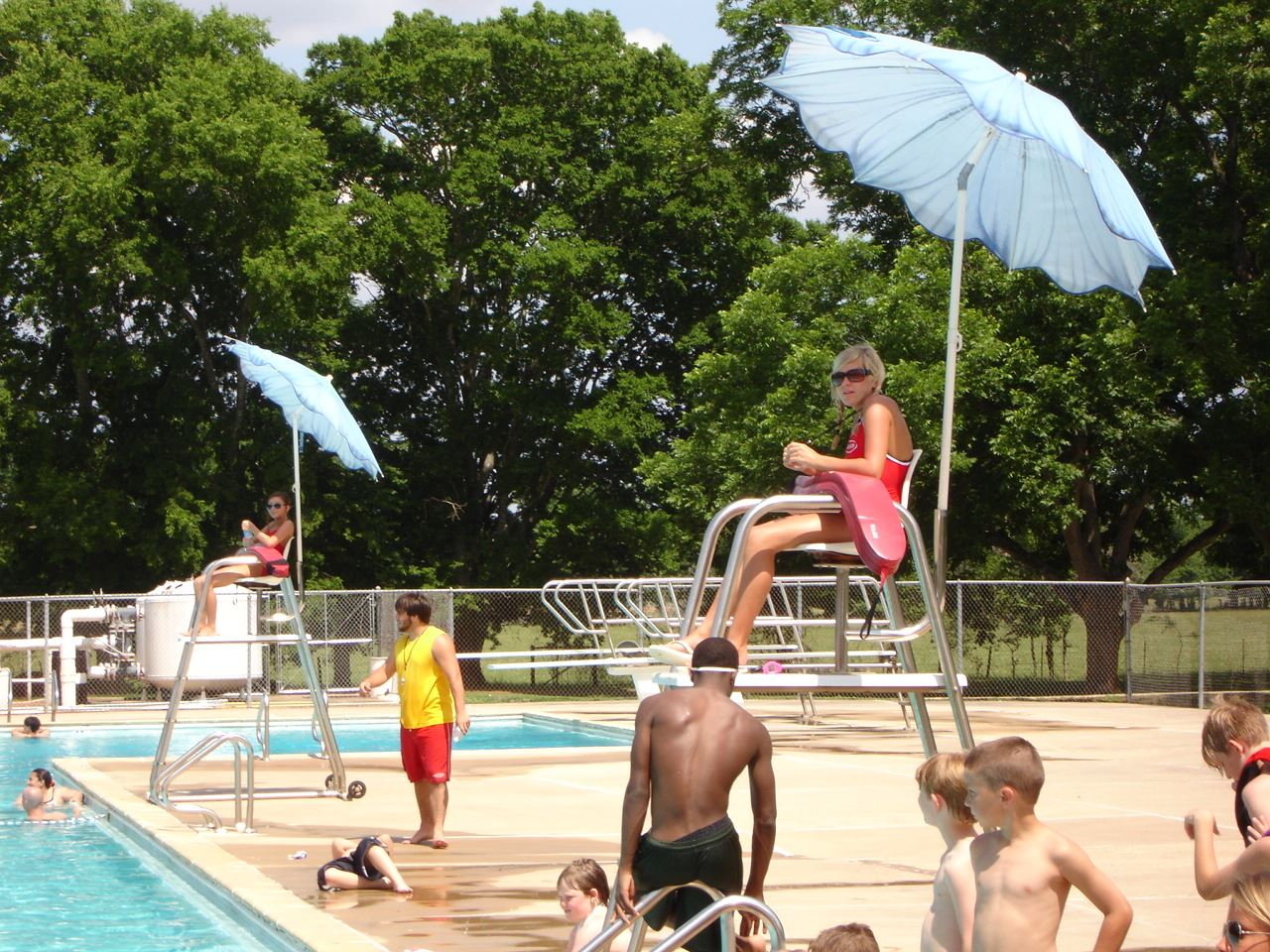 Lifeguard Overlooking the Swimming Facility