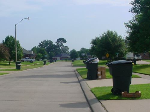 Dumpsters Along Road