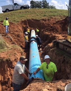 Laying Pipe
