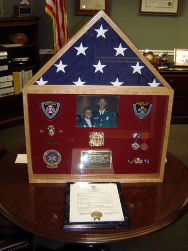Internal Affairs Shadow Box and Medals
