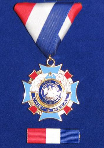 Fire Chief's Award of Honor Medal Close Up