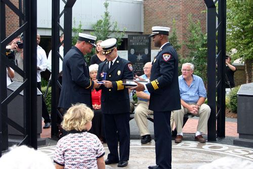Fire Chief's Award of Honor Ceremony Process Taking Place
