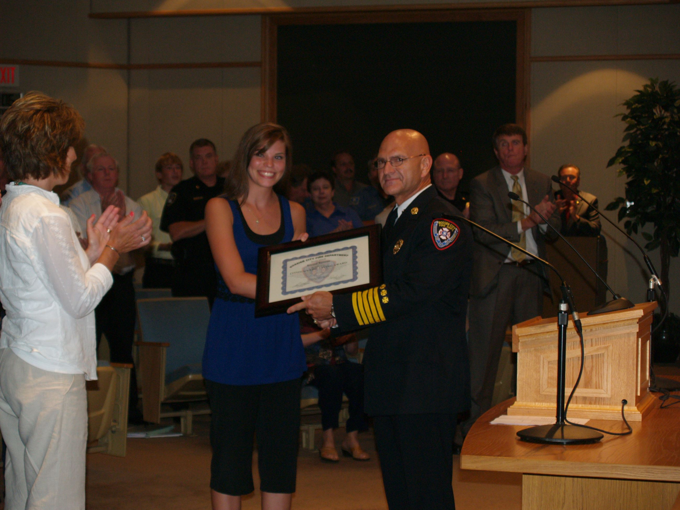 2008 Citizen's Recognition Award Recipient Accepting Award
